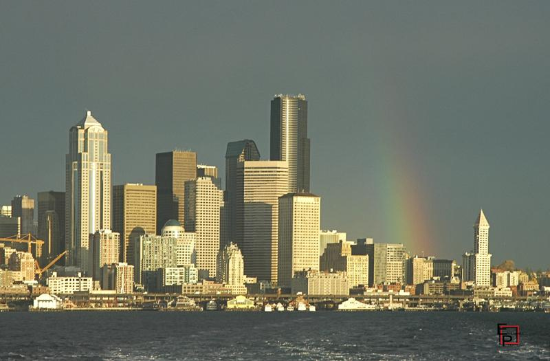 Seattle Waterfront Rainbow
